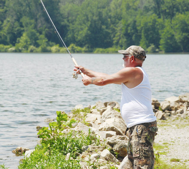 Tom Lisch of Springfield recently spent a day fishing at Kiser Lake. Although 2017 was a summer of public health advisories and beach alerts due to algae bloom at Kiser Lake, so far this year no alerts have been posted by the state of Ohio. To check the latest information on any Ohio beach before entering the water, log on to the Ohio Department of Health's Beach Guard portal at https://tinyurl.com/yc82e7rd.