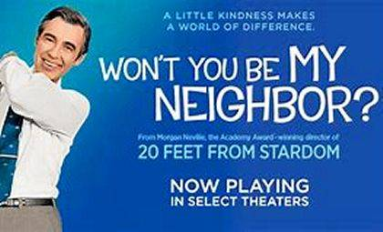 "The nonfiction film ""Wont You Be My Neighbor?"" about the life and times of Fred Rogers, will be shown today through Sunday at the Gloria Theatre in downtown Urbana."