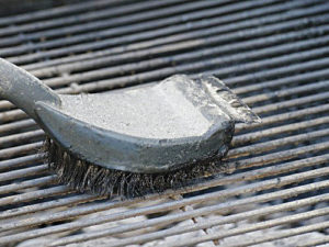 BBQ safely: Be careful when using steel grill brushes