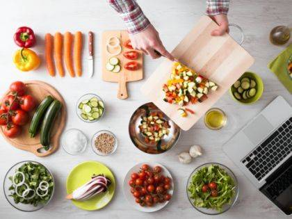 There are many materials to choose from when shopping for a cutting board. One that is easiest to keep clean is the best. Be sure to have separate boards for meat and other foods.