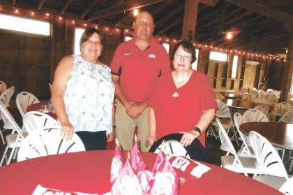 Officers of the Champaign County OSU Alumni Club include, from left, Treasurer Chris Harmison, President James Landenburg and Vice President Julie Balmer.